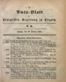 Amts-Blatt der Königlichen Regierung zu Liegnitz, 1855, Jg. 45, No 6