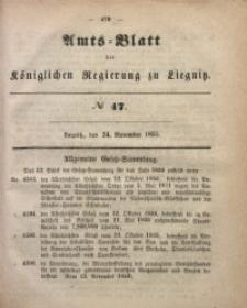 Amts-Blatt der Königlichen Regierung zu Liegnitz, 1855, Jg. 45, No 47