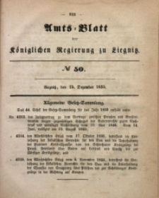 Amts-Blatt der Königlichen Regierung zu Liegnitz, 1855, Jg. 45, No 50