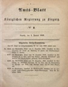 Amts-Blatt der Königlichen Regierung zu Liegnitz, 1856, Jg. 46, No 1