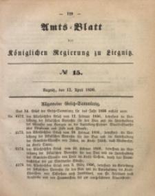 Amts-Blatt der Königlichen Regierung zu Liegnitz, 1856, Jg. 46, No 15