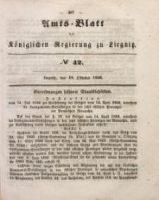 Amts-Blatt der Königlichen Regierung zu Liegnitz, 1856, Jg. 46, No 42