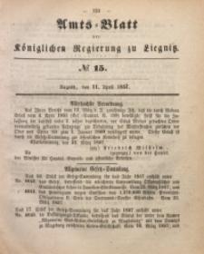 Amts-Blatt der Königlichen Regierung zu Liegnitz, 1857, Jg. 47, No 15