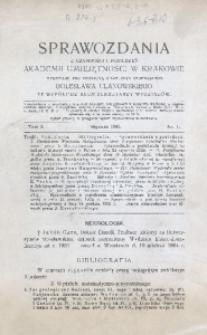 Sprawozdania z Czynności i Posiedzeń Akademii Umiejętności w Krakowie, 1905, T. 10, Nr 1