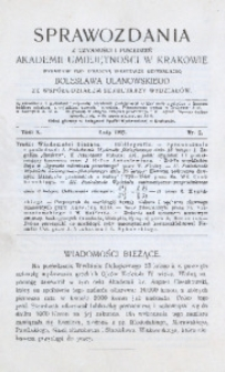 Sprawozdania z Czynności i Posiedzeń Akademii Umiejętności w Krakowie, 1905, T. 10, Nr 2