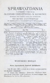 Sprawozdania z Czynności i Posiedzeń Akademii Umiejętności w Krakowie, 1905, T. 10, Nr 5