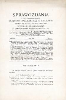 Sprawozdania z Czynności i Posiedzeń Akademii Umiejętności w Krakowie, 1906, T. 11, Nr 2