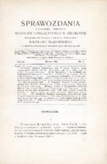Sprawozdania z Czynności i Posiedzeń Akademii Umiejętności w Krakowie, 1906, T. 11, Nr 3