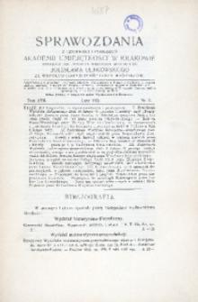 Aprawozdania z Czynności i Posiedzeń Akademii Umiejętności w Krakowie, 1912, T. 17, Nr 2