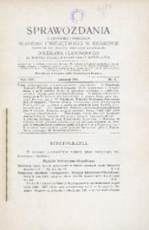 Sprawozdania z Czynności i Posiedzeń Akademii Umiejętności w Krakowie, 1912, T. 17, Nr 9