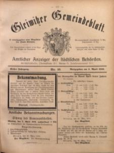 Gleiwitzer Gemeindeblatt, 1910, Jg. 1, Nr 16