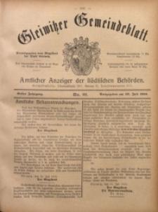 Gleiwitzer Gemeindeblatt, 1910, Jg. 1, Nr 32
