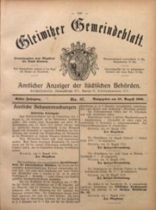 Gleiwitzer Gemeindeblatt, 1910, Jg. 1, Nr 37