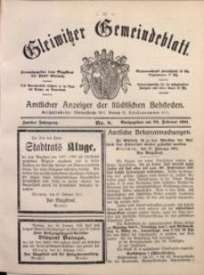 Gleiwitzer Gemeindeblatt, 1911, Jg. 2, Nr. 8