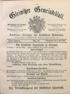 Gleiwitzer Gemeindeblatt, 1911, Jg. 2, Nr. 28