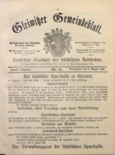 Gleiwitzer Gemeindeblatt, 1911, Jg. 2, Nr. 32