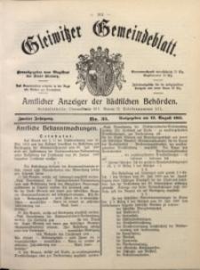 Gleiwitzer Gemeindeblatt, 1911, Jg. 2, Nr. 33
