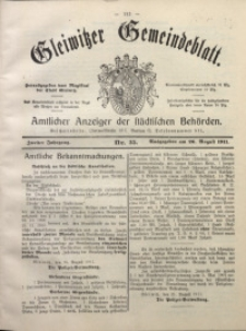 Gleiwitzer Gemeindeblatt, 1911, Jg. 2, Nr. 35