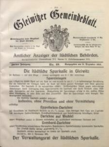 Gleiwitzer Gemeindeblatt, 1911, Jg. 2, Nr. 49