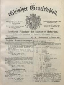Gleiwitzer Gemeindeblatt, 1912, Jg. 3, Nr. 2