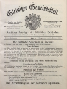 Gleiwitzer Gemeindeblatt, 1912, Jg. 3, Nr. 5