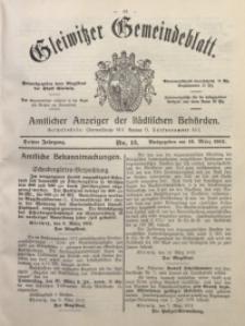Gleiwitzer Gemeindeblatt, 1912, Jg. 3, Nr. 13