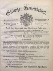 Gleiwitzer Gemeindeblatt, 1913, Jg. 4, Nr. 2