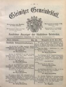 Gleiwitzer Gemeindeblatt, 1913, Jg. 4, Nr. 25