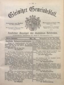 Gleiwitzer Gemeindeblatt, 1913, Jg. 4, Nr. 26