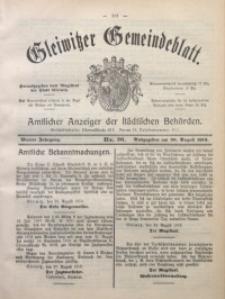 Gleiwitzer Gemeindeblatt, 1913, Jg. 4, Nr. 36