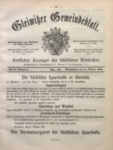 Gleiwitzer Gemeindeblatt, 1913, Jg. 4, Nr. 43