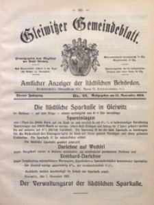 Gleiwitzer Gemeindeblatt, 1913, Jg. 4, Nr. 48