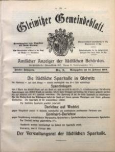 Gleiwitzer Gemeindeblatt, 1914, Jg. 5, Nr. 8