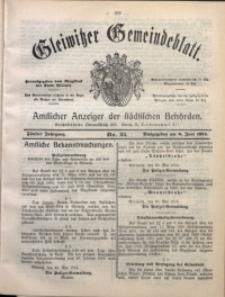 Gleiwitzer Gemeindeblatt, 1914, Jg. 5, Nr. 25