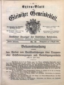 Gleiwitzer Gemeindeblatt, 1914, Jg. 5, Nr. 42