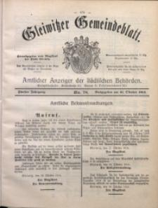 Gleiwitzer Gemeindeblatt, 1914, Jg. 5, Nr. 78