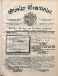 Gleiwitzer Gemeindeblatt, 1914, Jg. 5, Nr. 87