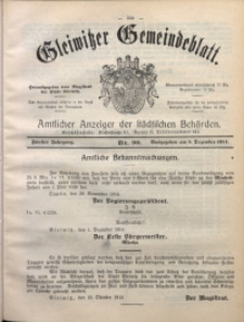 Gleiwitzer Gemeindeblatt, 1914, Jg. 5, Nr. 90