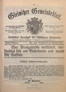 Gleiwitzer Gemeindeblatt, 1915, Jg. 6, Nr. 104