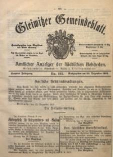 Gleiwitzer Gemeindeblatt, 1915, Jg. 6, Nr. 135