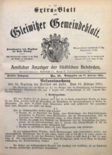 Gleiwitzer Gemeindeblatt, 1915, Jg. 6, Nr. 18