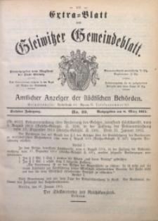 Gleiwitzer Gemeindeblatt, 1915, Jg. 6, Nr. 29