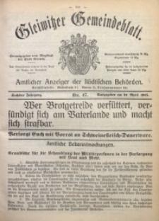 Gleiwitzer Gemeindeblatt, 1915, Jg. 6, Nr. 47