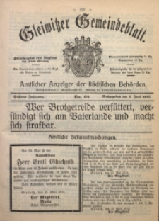 Gleiwitzer Gemeindeblatt, 1915, Jg. 6, Nr. 68