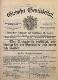 Gleiwitzer Gemeindeblatt, 1915, Jg. 6, Nr. 95