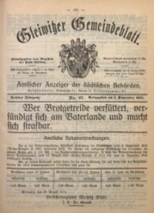 Gleiwitzer Gemeindeblatt, 1915, Jg. 6, Nr. 97