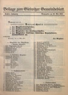 Beilage zum Gleiwitzer Gemeindeblatt, Jg. 6, 22.05.1915