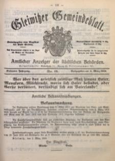 Gleiwitzer Gemeindeblatt, 1916, Jg. 7, Nr. 16