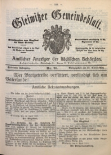 Gleiwitzer Gemeindeblatt, 1916, Jg. 7, Nr. 26