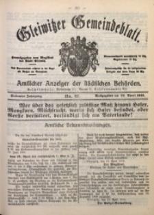 Gleiwitzer Gemeindeblatt, 1916, Jg. 7, Nr. 27
